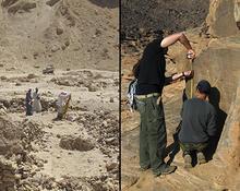 Field work at Wadi Debabyia in the Luxor area, and Kor Abu Subeira in Aswan.
