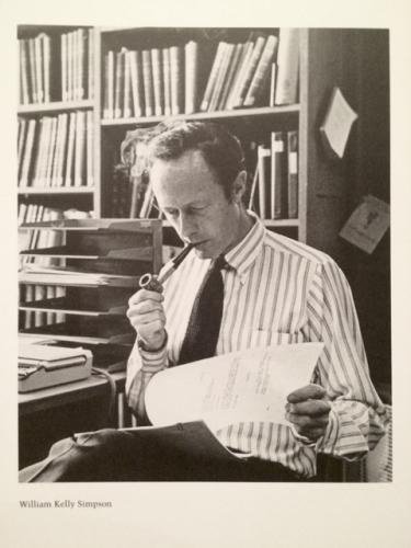 Professor Emeritus William Kelly Simpson 1928-2017.