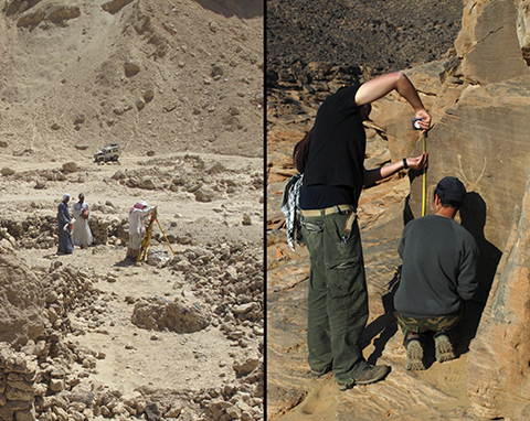Field work at Wadi Debabyia in the Luxor area, and Kor Abu Subeira in Aswan.